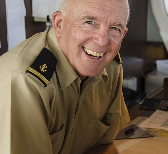 Retired Naval Commander volunteers his navigation skills as a deck officer with Mercy Ships