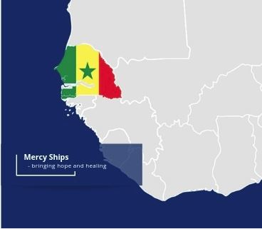 mercy Ships providing free healthcare services in Muslim Senegal